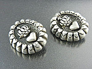 CAROL HENRY  Earrings Sterling Silver Clips (Image1)