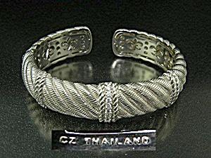 Judith Ripka Sterling Silver Crystal Bracelet (Image1)