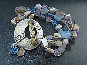 SILPADA Sterling Silver Brass 4 Strand Bracelet Retired (Image1)