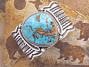 CADMAN Sterling Silver Kingman Turquoise Cuff  (Image1)