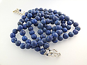 GUNDI Blue Lapis 2 strands Sterling Silver Necklace (Image1)