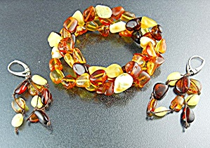 Amber Butterscotch Golden Expanda Bracelet Sterling Sil