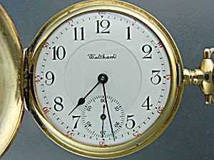 14k Gold Waltham Pocket Watch 20 Jewels Kw & Co