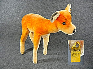 Steiff Doe Mohair Deer Germany 50s 60s (Image1)