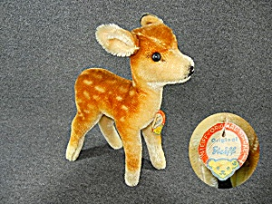 Steiff Mohair Baby Deer Germany With Tag