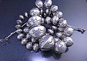 Native American Navajo Pearls Sterling Silver  (Image1)
