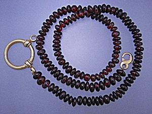 Garnets Sterling Silver Gold Vermeil Glasses Holder (Image1)