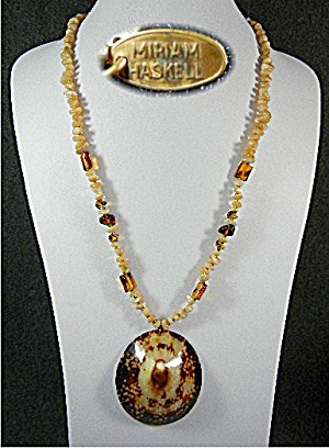 Miriam Haskell Shell Mother of Pearl Necklace (Image1)