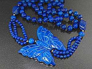 Lapis Butterfly & Beads Necklace (Image1)