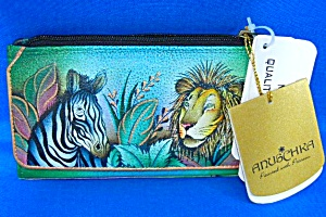 Anuschka Hand Painted Leather African Adventure Wallet  (Image1)