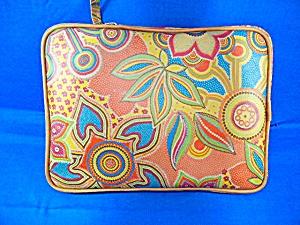Leather Paisley Flower CoFi  iPad Sleeve (Image1)