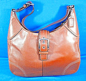 Coach  Brown Leather Soho Flap Bag (Image1)