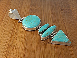 David Troutman Sterling Silver Turquoise Pendant (Image1)