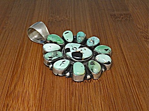 Carico  Lake Turquoise Sterling Silver BRD Pendant  (Image1)