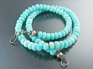 Larimar Beads Sterling Silver Clasp Necklace (Image1)