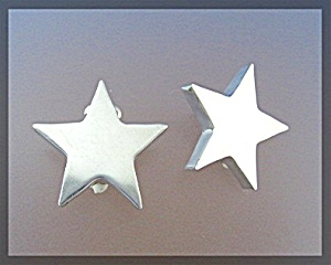 Sterling Silver Star Clip Earrings Mexico (Image1)