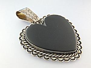 David Troutman & Gundi Onyx Sterling Silver Heart (Image1)