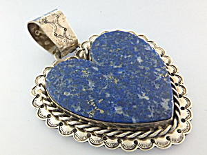 David Troutman & Gundi Lapis Sterling Silver Heart  (Image1)