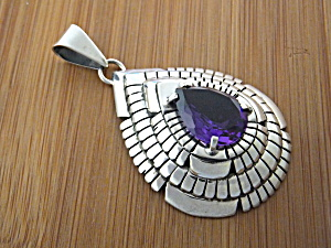 Pendant Amethyst Sterling Silver Larry Pacheco Usa