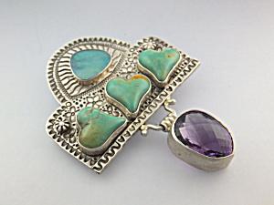 David Troutman & Gundi Sterling Silver Turquoise Opal A (Image1)