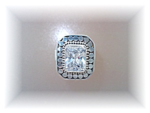 Ring Natural Zircon Sterling Silver By Designer Peggy V (Image1)