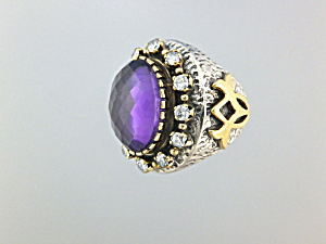 Ring Amethyst White Topaz Amethyst Sterling Silver (Image1)