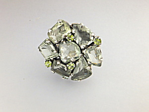 Green Amethyst Sterling Silver Ring  Beautiful Gems (Image1)