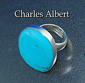 Charles Albert Sleeping Beauty Turquoise Sterling Silve