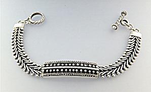 Sterling Silver Toggle Bracelet  Bali (Image1)