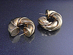 Agatha Paris Gold Pierced Earrings Newzealand Designer (Image1)