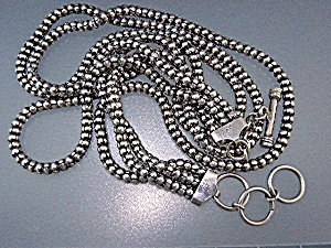 Silver Bead Necklaces Office Cupboard White Tag