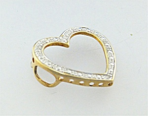 Pendant Sterling Silver Vermeil Heart  (Image1)