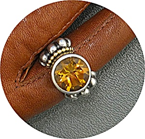 Ring LAGOS CAVIAR 18K Gold Sterling Silver Citrine (Image1)