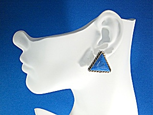 David Troutman Denhim Lapis Sterling Silver Clips