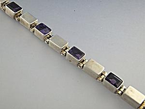 Bracelet Sterling Silver Amethyst Indonesia (Image1)