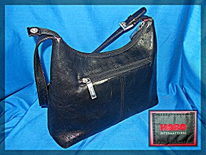HOBO International Black Leather Bag Purse (Image1)