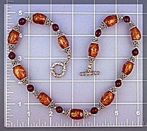 Necklace Amber Sterling Silver Beads (Image1)