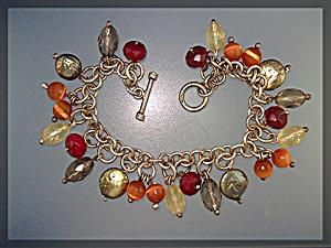 Bracelet Sterling Silver Pearl Citrine Crystal Toggle C (Image1)
