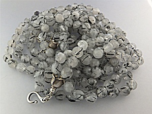 Necklace Sterling Silver 5 Strand Rutilated Quartz GUND (Image1)