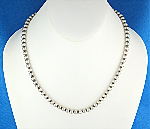 Necklace Sterling Silver 20 Inch Beads Italy (Image1)
