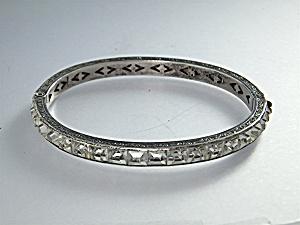 Bracelet Sterling Silver Crystal Bracelet 40s (Image1)