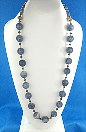 GUNDI Blue Coral Sterling Silver Necklace (Image1)