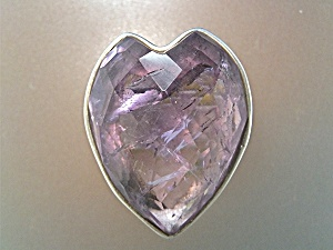 Ring Sterling Silver Amethyst Quartz Heart (Image1)