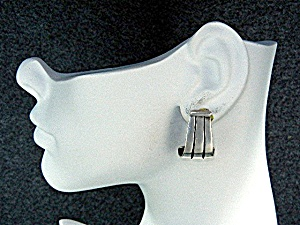 James Avery Sterling Silver Omega Clip Earrings Retired