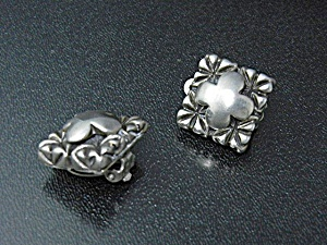Sterling Silver Cross Clip Earrings Designer Carol Henr