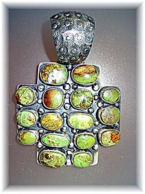 Gaspeite Sterling Silver Pendant By Dan Dodson (Image1)
