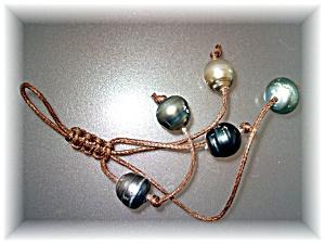 Purse Decoration 5 Tahitian Pearls Hand Made (Image1)