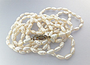 Necklace Freshwater Pearls Sterling Silver Clasp (Image1)