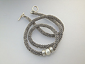Necklace Sterling Silver Genuine Pearl 56 Grams (Image1)