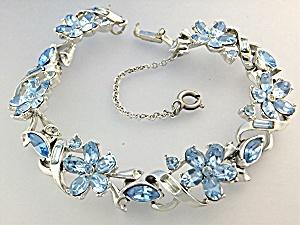 Bracelet Rhodium Silver Blue Crystals CORO (Image1)